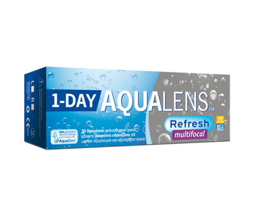 Meyers - Aqualens MEYERS - AQUALENS REFRESH ONE DAY MULTIFOCAL -ΠΟΛΥΕΣΤΙΑΚΟΣ - ΗΜΕΡΗΣΙΟΙ - 30 ΦΑΚΟΙ